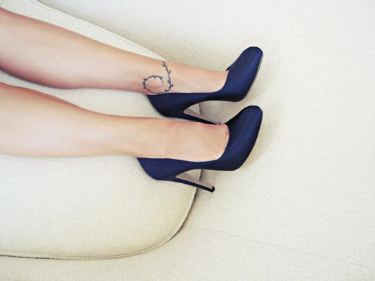 navy ferragamo heels
