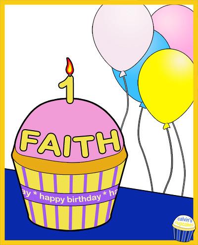 Faith Anne's 1st birthday cupcake