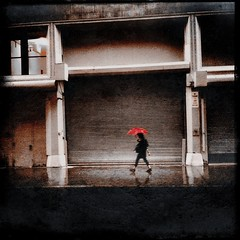 """Is It Raining? Let Me Play"" (Sion Fullana) Tags: red urban newyork painterly colors beauty rain umbrella square lluvia rainyday creative squareformat umbrellas allrightsreserved newyorkers newyorklife iphone selectivecolor redumbrella 500x500 likeapainting walkingintherain pictorialism urbanshots girlinblack creativeshots blurredfigure urbannewyork iphone4 raininnyc iphonephotography iphoneshots iphoneography iphoneographer sionfullana cinemafxapp editedanduploadedoniphone format126app pictureshowapp throughthelensofaniphone isitrainingletmeplay"