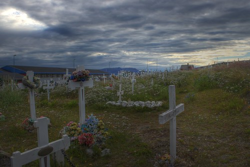 Inuit Christian Cemetery in Greenland