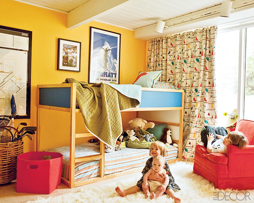 Jesse Carrier Fielden house Elle Decor kids room