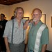 Artist Anthony Ausgang with collector Robert Bostrom