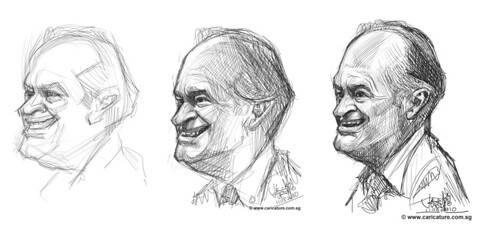 Schoolism assignment 2 - digital sketch studies of Bob Hope