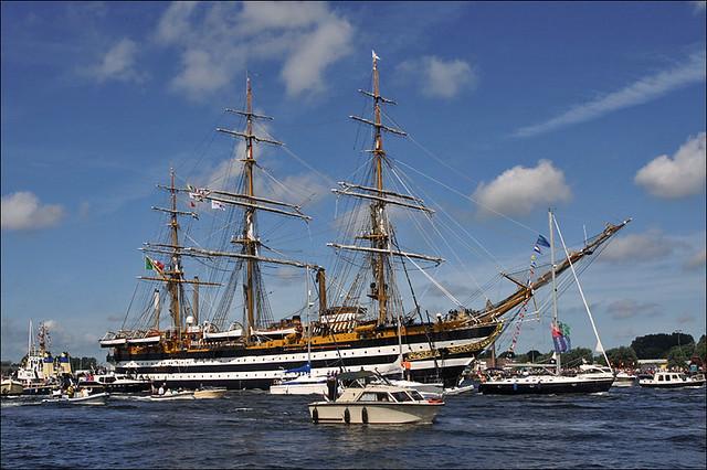 Amerigo Vespucci during the Parade of Sail Amsterdam 2010