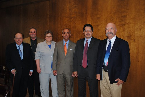 USDA Rural Development tour of the Sam Kane Beef Processing Plant . (L-R) CEO Jerry Kane, CFO Harold Kane, Deputy Under Secretary Rural Development Cheryl Cook, Texas State Director Paco Valentin, Texas State Program Director Daniel Torres and Area Director Jake Sheeran.