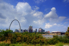 Scenic From Illinois (Antonia Quest Photography/Larry Moore--Thanks) Tags: city color clouds river mississippi arch sony stlouis missouri aq