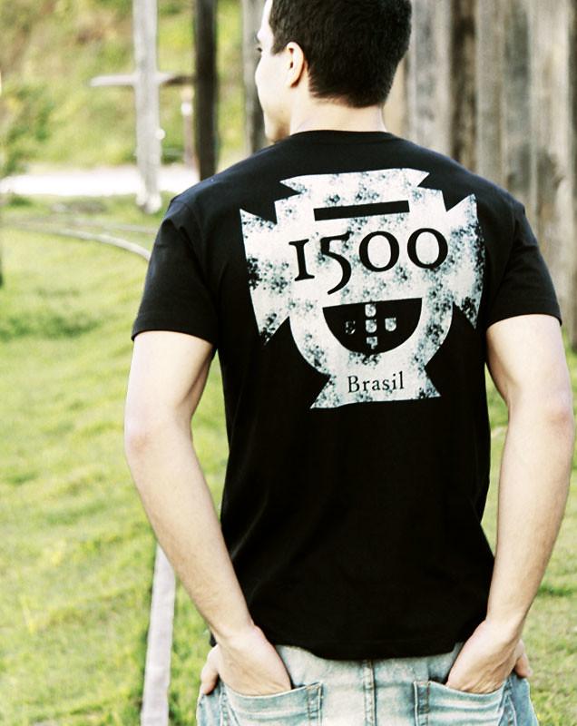 1500 Brasil t-shirt - Camiseta 1500 Brasil Preta