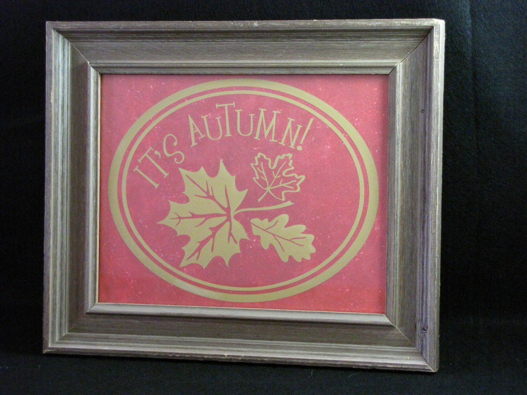 It's Autumn Home Decor Rustic Table Top Frame