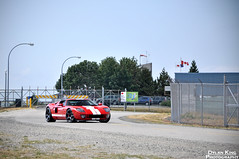 Ford GT (Dylan King Photography) Tags: door light red white canada black ford vancouver nikon open bc britishcolumbia side tail rear wheels stripe front brake headlight 51 gt rims diffuser exhaust d90 adv1 srautogroup