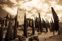 Castello di Arco ruins (antiqued)