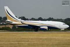 N737GG - 29136 - Mid East Jet - Boeing 737-74Q BBJ - Luton - 100802 - Steven Gray - IMG_0931