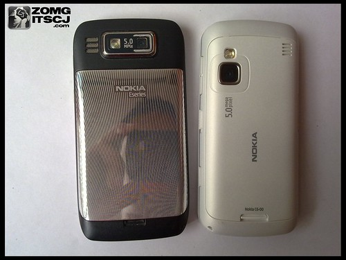 Both the Nokia E72 and the Nokia C6 have a 5 Megapixel Auto-focus