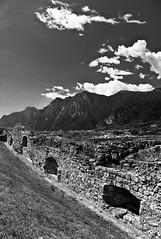 View from Castello di Arco ruins