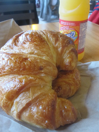 Croissant and sunny D from Première Moisson - $3.80