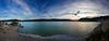 (co²) Tags: travel blue sunset panorama sol de spain nikon huesca camino pano aragon puesta embalse jaca navarra co2 yesa d700
