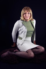 IMG_0868 (DonnaLouise) Tags: green blonde 70s secretary skirtsuit worksuit
