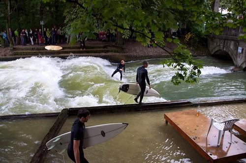 Munich Eisbach Surfing