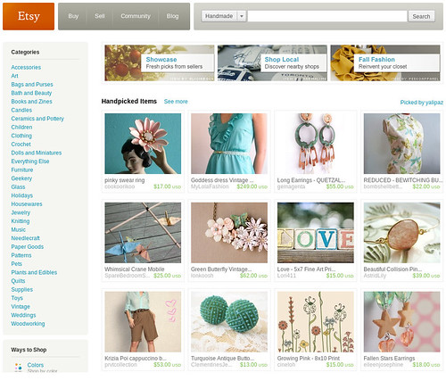 Front page ETSY