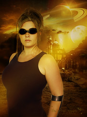 318/365 Are you afraid of the dark? (OceanBaby-in-SLC) Tags: lighting portrait orange woman moon yellow female self project movie desert badass goggles inspired manipulation hero planets riddick pitchblack thechroniclesofriddick 365days syfy