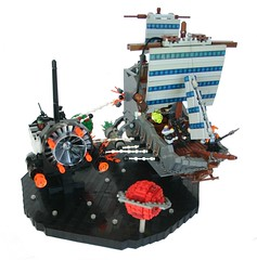 Pirates of the Cerebellum: At Axons End  (Main) (tin) Tags: funny lego lol space pirates bap brain prototype captain scifi sciencefiction spoof ba weirdal laughs leetspeak spacepirates brickarms piratesofthecaribbeanspoof