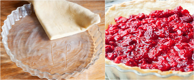 The perfect pie crust + fresh raspberries