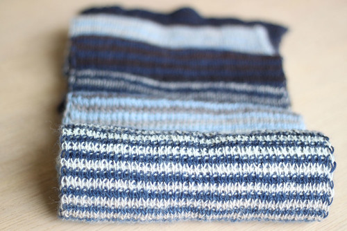 striped scarf for Dad