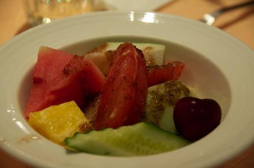 鮮果蔬菜沙拉佐酒醋醬