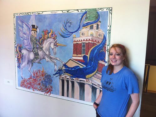 Carleigh Morgan's Mural in ZSR