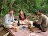 Lao picknick bij de waterval