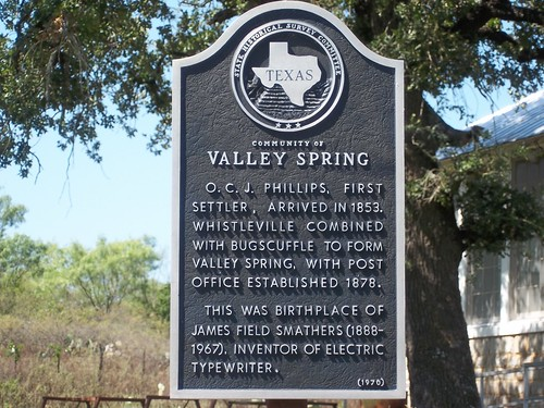 Community of Valley Spring, Valley Spring, Texas Historical Marker by fables98