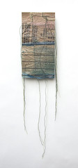 It's Blue on the Reverse (Leah Virsik) Tags: paper fabric transparency stitching muslin dresspattern leahvirsik