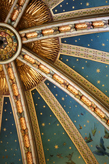 Magical (The Green Album) Tags: blue castle lines birds wales painting stars gold curves flight cardiff victorian butterflies ceiling historical ornate magical gilt coch theunforgettablepictures