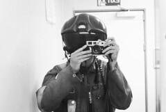 earlier today in the toilet (gorbot.) Tags: blackandwhite bw selfportrait me work mirror raw offshore toilet reflected dng leicam8 digitalrangefinder ltmmount pilothelmet voigtlander35mmultronf17