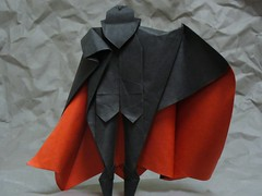 Dracula (1) (the real juston) Tags: halloween paper frank origami vampire nosferatu graf bat christopher dracula edward lee bela papiroflexia challenge monthly