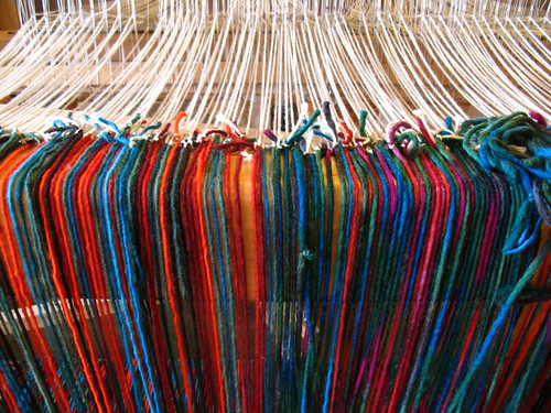 weaving at Tierra Wools