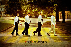 Laurie and Matt ~ Wedding ~ Abby Road (~Phamster~) Tags: wedding portrait walking fun action groomsmen tux abbyroad 85l 5dmkii