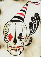 Circus (.  F L F  .) Tags: life portrait blackandwhite white black game color art halloween colors hat illustration cores poster dayofthedead dead skulls skeleton skull design sketch arte ghost jewelry pop diamond textures bone sk cartas tatoo juego caveira ilustrao metamorphosis grafite baralho mcescher walpaper crnio naipe franciscofreitas