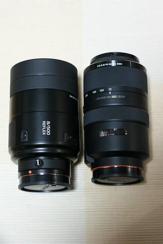 SAL500F80 と SAL70300G の比較