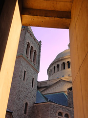 The Mother Church (brooksbos) Tags: city pink blue light sunset summer sky urban orange color colors boston architecture geotagged ma photography golden evening photo glow sony newengland cybershot bostonma backbay sonycybershot bostonist masschusetts 02115 christiansciencechurch lurvely themotherchurch everyblock thatsboston dschx5v hx5v brooksbos