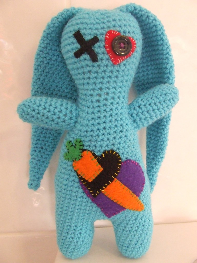 Bunny Warrior Amigurumi Says, 'With a Carrot as My Sword ...'