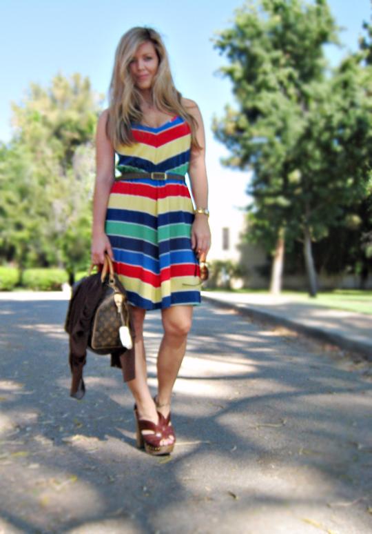 summer dress+miu miu clog sandals+70's 80's dress