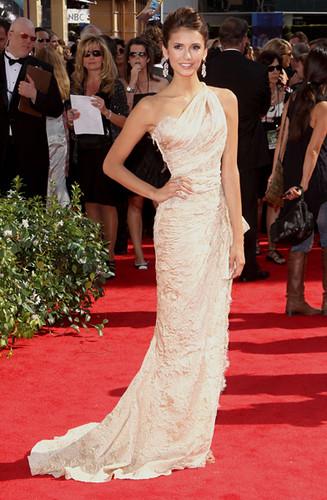 Nina Dobrev at the at the 62nd Primetime Emmy Awards
