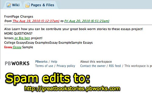 Great Book Stories - Spam Edits