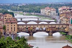 Florence (Italy) - The river with bridges (AnyRoadAnywhere) Tags: bridge italy panorama river florence italia bridges firenze arno pontevecchio ilobsterit