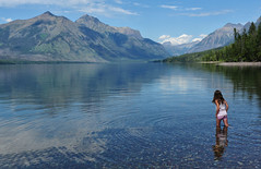 A Moment at Lake McDonald (Jeff Clow) Tags: family summer vacation lake holiday mountains water children montana glaciernationalpark wading lakemcdonald familygetty2010 gettyvacation2010