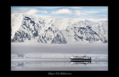 Ship in the Wilderness (Tomcod) Tags: ocean sea snow reflection ice clouds ship south antarctica glacier cruiseship southpole antarctic liner mountans