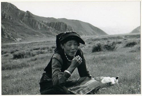 Tibetan Woman Spinning Cotton