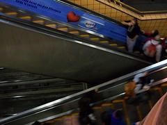 Ciudad Non Stop (Eswel) Tags: santiago metro escalator conceptual velocidad escaleras