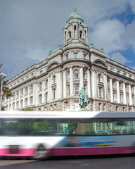 Metro in a rush! (PhotographNI - David Milligan) Tags: cloud bus college clouds metro unitedkingdom belfast national northernireland celtic blackman northern monuments nationalgeographic metrobus countyantrim antrim ulsterbus bbcni belfastmetropolitancollege picturesofireland cityofbelfast photographsofireland photographni untiligetitright
