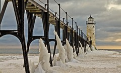 GOBLIN SENTRIES (ddt_uul) Tags: winter sky lighthouse lake snow ice water weather clouds pier michigan lakemichigan manistee manisteemichigan mygearandme mygearandmepremium mygearandmebronze mygearandmesilver mygearandmegold mygearandmeplatinum mygearandmediamond